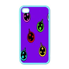 Christmas Baubles Apple Iphone 4 Case (color)