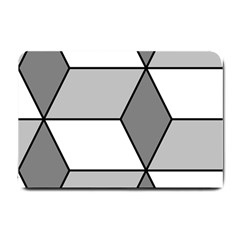 Diamond Cubes Gray Small Doormat