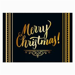 Christmas Gold Black Frame Noble Large Glasses Cloth (2 Side) by Nexatart