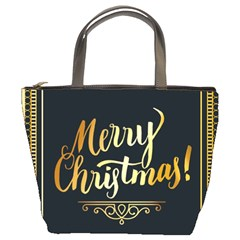 Christmas Gold Black Frame Noble Bucket Bags by Nexatart