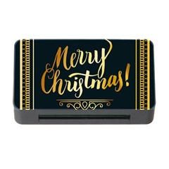 Christmas Gold Black Frame Noble Memory Card Reader With Cf