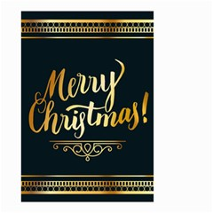 Christmas Gold Black Frame Noble Small Garden Flag (two Sides)