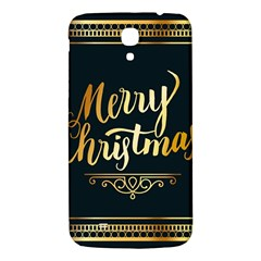 Christmas Gold Black Frame Noble Samsung Galaxy Mega I9200 Hardshell Back Case