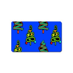 Christmas Trees Magnet (name Card) by Nexatart