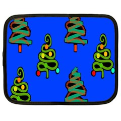 Christmas Trees Netbook Case (xxl)  by Nexatart