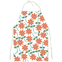 Clipart Floral Seamless Flower Leaf Full Print Aprons