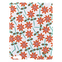 Clipart Floral Seamless Flower Leaf Apple Ipad 3/4 Hardshell Case by Jojostore
