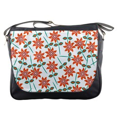 Clipart Floral Seamless Flower Leaf Messenger Bags