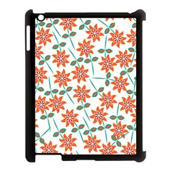 Clipart Floral Seamless Flower Leaf Apple Ipad 3/4 Case (black) by Jojostore