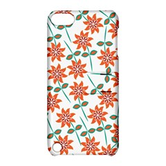 Clipart Floral Seamless Flower Leaf Apple Ipod Touch 5 Hardshell Case With Stand