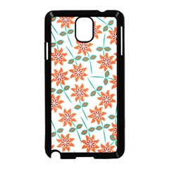 Clipart Floral Seamless Flower Leaf Samsung Galaxy Note 3 Neo Hardshell Case (black) by Jojostore