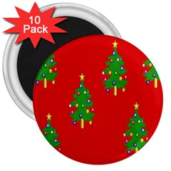 Christmas Trees 3  Magnets (10 Pack)  by Nexatart