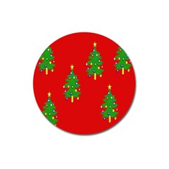 Christmas Trees Magnet 3  (round) by Nexatart