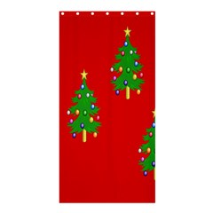 Christmas Trees Shower Curtain 36  X 72  (stall)  by Nexatart