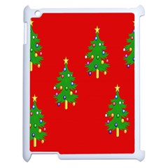 Christmas Trees Apple Ipad 2 Case (white) by Nexatart