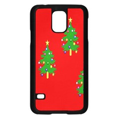 Christmas Trees Samsung Galaxy S5 Case (black) by Nexatart