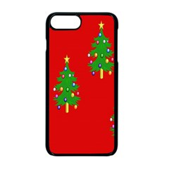Christmas Trees Apple Iphone 7 Plus Seamless Case (black)