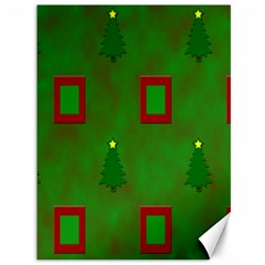 Christmas Trees And Boxes Background Canvas 36  X 48   by Nexatart