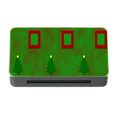 Christmas Trees And Boxes Background Memory Card Reader With Cf