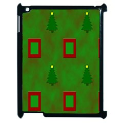 Christmas Trees And Boxes Background Apple Ipad 2 Case (black) by Nexatart