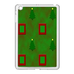 Christmas Trees And Boxes Background Apple Ipad Mini Case (white) by Nexatart