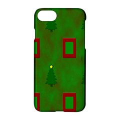 Christmas Trees And Boxes Background Apple Iphone 7 Hardshell Case