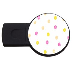 Diamond Pink Yellow Usb Flash Drive Round (2 Gb) by Jojostore