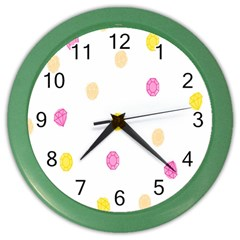 Diamond Pink Yellow Color Wall Clocks by Jojostore