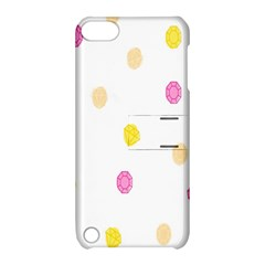 Diamond Pink Yellow Apple Ipod Touch 5 Hardshell Case With Stand