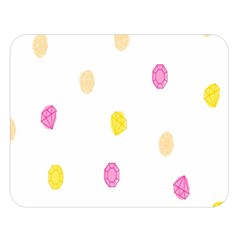Diamond Pink Yellow Double Sided Flano Blanket (large)