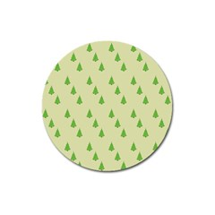 Christmas Wrapping Paper Pattern Magnet 3  (round) by Nexatart