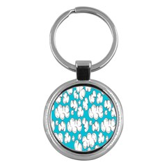Clouds Seamless Blue Sky Key Chains (round)