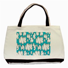 Clouds Seamless Blue Sky Basic Tote Bag (two Sides)