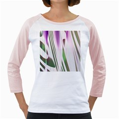 Colored Pattern Girly Raglans