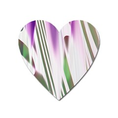 Colored Pattern Heart Magnet