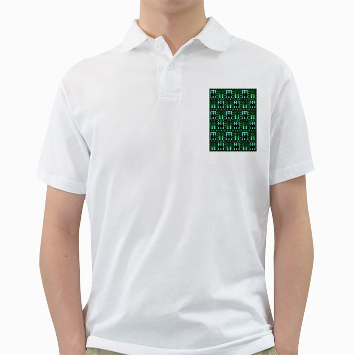 Egyptianpattern Colour Green Golf Shirts
