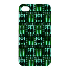 Egyptianpattern Colour Green Apple Iphone 4/4s Premium Hardshell Case by Jojostore