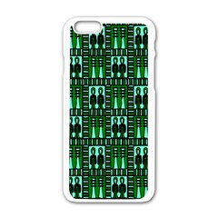 Egyptianpattern Colour Green Apple Iphone 6/6s White Enamel Case by Jojostore