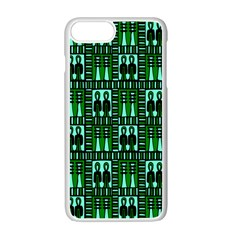 Egyptianpattern Colour Green Apple Iphone 7 Plus White Seamless Case