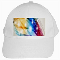 Colour Abstract White Cap