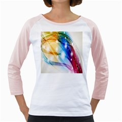 Colour Abstract Girly Raglans