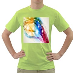Colour Abstract Green T Shirt