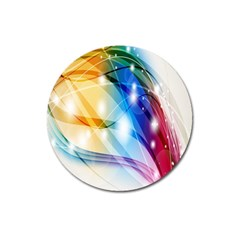 Colour Abstract Magnet 3  (round)
