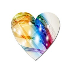 Colour Abstract Heart Magnet