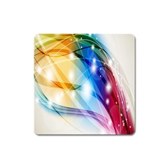 Colour Abstract Square Magnet