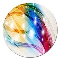 Colour Abstract Magnet 5  (round)