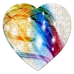 Colour Abstract Jigsaw Puzzle (heart) by Nexatart