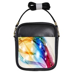 Colour Abstract Girls Sling Bags by Nexatart