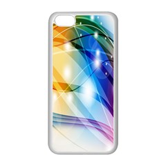 Colour Abstract Apple Iphone 5c Seamless Case (white) by Nexatart