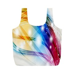 Colour Abstract Full Print Recycle Bags (m)  by Nexatart